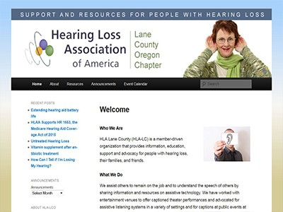 Hearing Loss Association – Lane County – WordPress