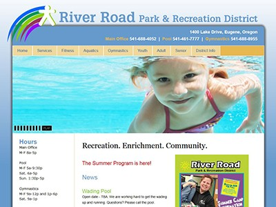 River Road Parks & Recreation – Dreamweaver