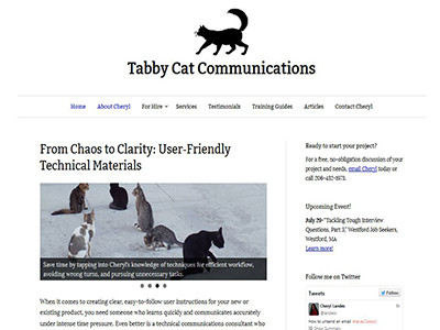 Tabby Cat Communications – WordPress