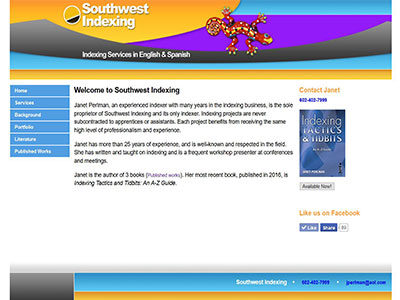 Southwest Indexing – Dreamweaver